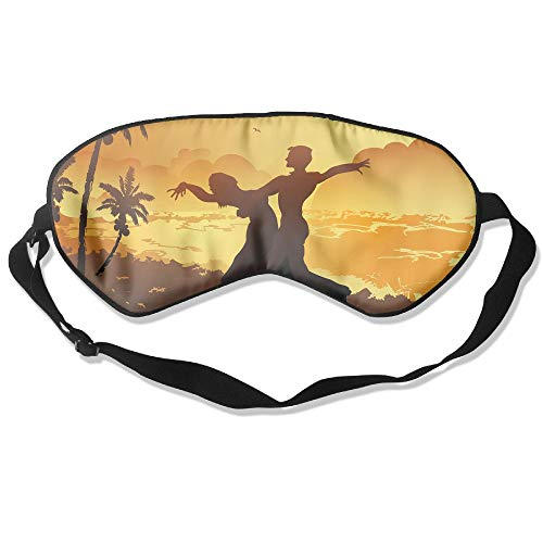 WUGOU Sleep Eye Mask Dance Slideshow Lightweight Soft Blindfold Adjustable Head Strap Eyeshade Travel Eyepatch