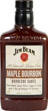 Jim Beam Barbecue Sauce 18oz Bottle (Pack of 3) Select Flavor (Maple Bourbon) (Jim Barbecue Beam Sauce)