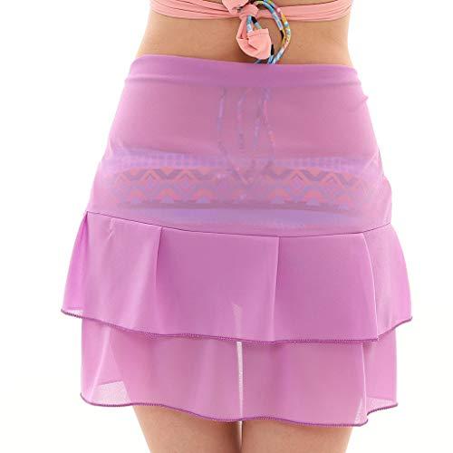 Cardigo Womens Chiffon Skirt Sunscreen Shawl Beach Bikini Swimwear Wrap Coverup Swimsuit Purple by Cardigo (Image #2)