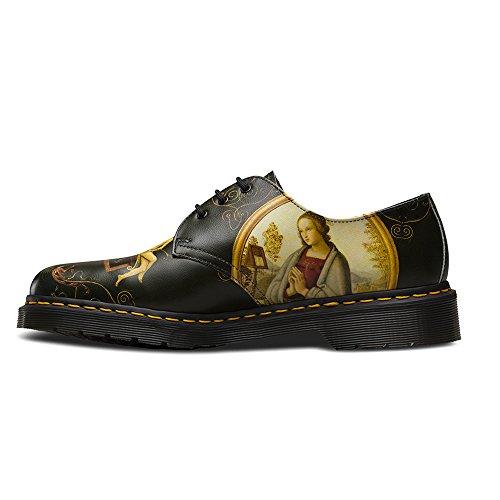 1461 Velvet 3 Eye Shoe - Black Di Paulo Backhand negro