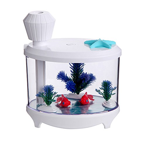 Hopesooky fish tank nightlight humidifier 460ml air for Humidifier cleaning fish