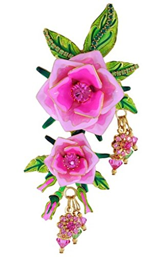 Lunch at The Ritz 2GO USA Tea Rose Pin - Pink by Lunch at The Ritz