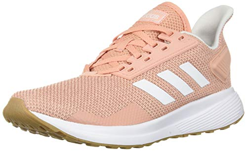 adidas Women's Duramo 9 Running Shoe, dust Pink/White/Clear Orange, 5 M US
