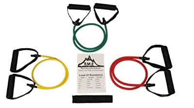 Black Mountain Products Set Of 3 Resistance Bands For Any Home Workout Exercise Including Physical Therapy