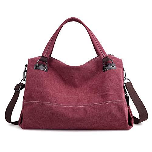 Commuter shoulder Curry Retro Canvas Kamierfas Wild a hlh Casual marrón Bag mobile borsa Ladies One Morado tracolla 2018 15awazq