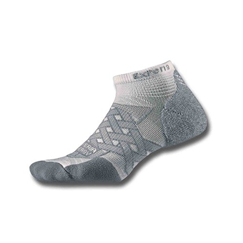 Thorlos Experia Energy Micro Mini Crew Sock Size: L, White with a Helicase Sock Ring