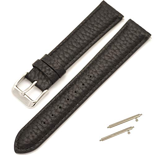 Leather Bke (HankuSilky Soft Rubber Watch Bands Genuine Leather Strap (BKE))