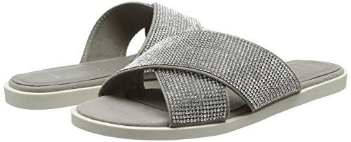 Gris Glamstar 4 Look Wide Sandales Femme Foot Ouvert New Bout mid Grey qUTOwO