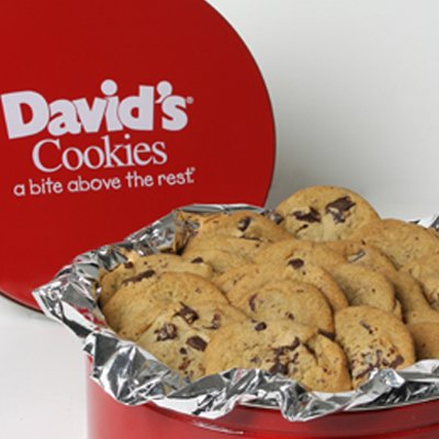 David's Cookies Chocolate Chunk Fresh Baked Cookies 2 Lb. Gift Tin