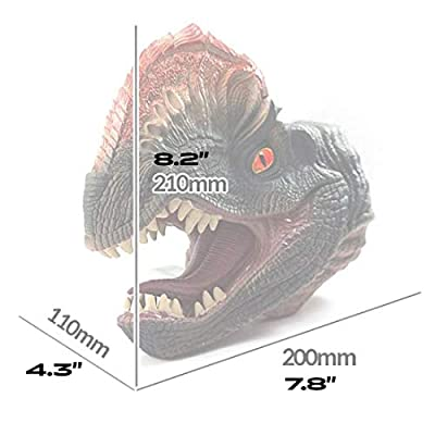 Bandi Toys Dilophosaurus Dinosaur Puppet for Kids Soft Rubber RealisticFunny & Scared Dino Head Hand Puppets T Rex Toys Home: Toys & Games