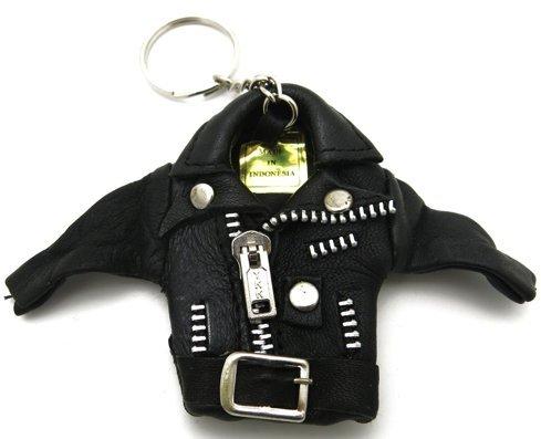 Topt, Perfecto: llavero con cazadora de cuero negro, estilo ...