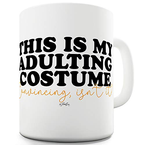 This Is My Adulting Costume 15 OZ Ceramic Tea Mug -