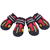 #8: EXPAWLORER Waterproof Dog Boots for Paw Protection - Reflective Non Slip Dog Shoes for Small to Large Dogs