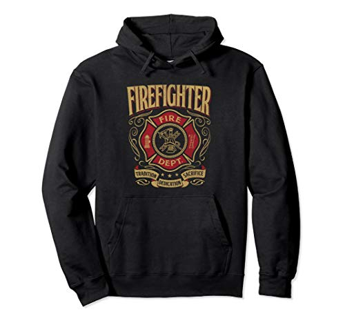(Volunteer Firefighter Thin Red line T Hoodie Florian Cross)