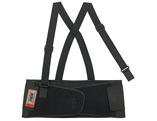 (Ergodyne ProFlex 1650 Economy Elastic Back Support Belt, Medium, Black)