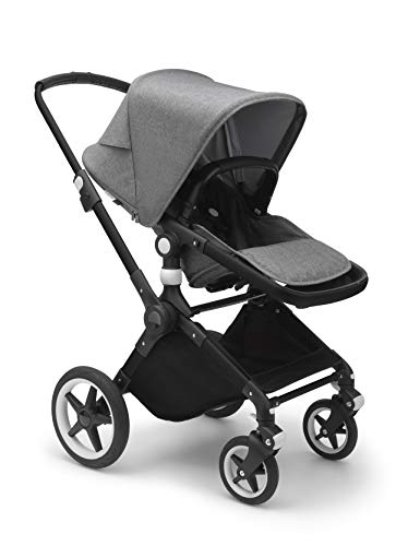 Bugaboo Lynx – The Lightest Full-Size Baby Stroller – All-Terrain Stroller with an Effortless Push and One-Handed Steering – Compatible with Bugaboo Turtle by Nuna Car Seat – Black/Grey Mélange