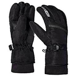 Winter Warm Ski Gloves - Waterproof & Wi...