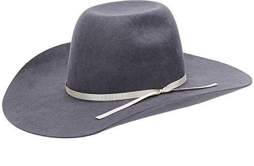 Chapéu Country em Feltro Cinza Com Bandinha de Fita Texas Diamond 21119 7a5a596c1a8