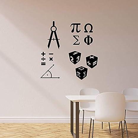 Símbolos de matemáticas Signo Pegatinas de pared Matemáticas Aula ...