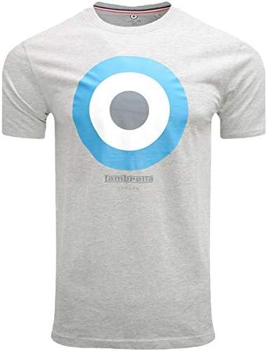 Lambretta - Camiseta de algodón con cuello redondo para hombre: Amazon.es: Ropa y accesorios