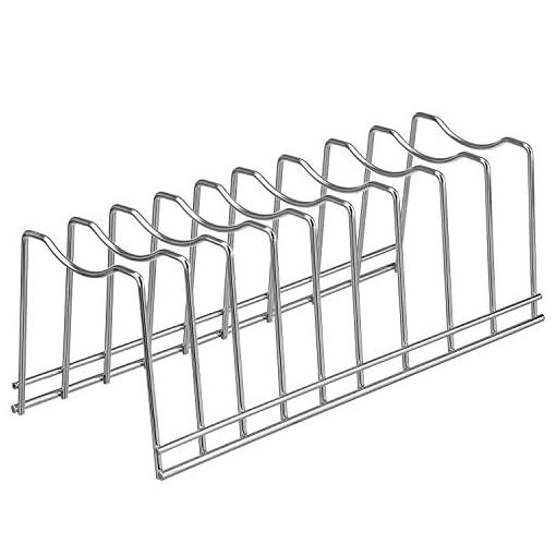 Kitchen Pot Lid Organizer, Kitchen Plate Rack Holder Rest, Storage Cutting Boards, Bakeware, Pots & Pans, Serving Trays… pot lid holders
