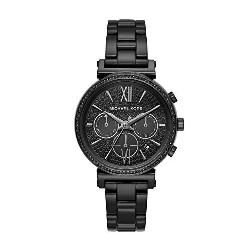 Michael Kors Women Sofie Quartz Stainless Steel Black with Black Dial Watch MK6632