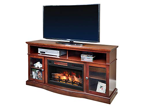 (ChimneyFree Walker Cherry Electric Fireplace Entertainment Center - 25MM5326-C245)
