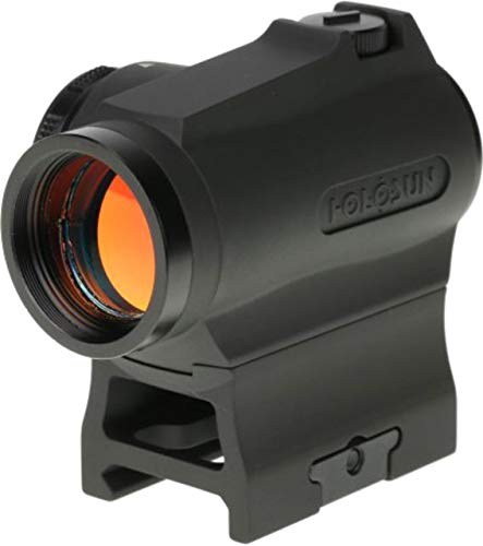 HOLOSUN HS403R Micro Reflex Sight, Black, 2 MOA Red Dot, 10DL & 2NV Brightness Settings, Rotary Switch, Multi-Layer Coating, Waterproof IP67, w/Lower 1/3 Height Mount & Low Base, CR2032, 100,000 hrs