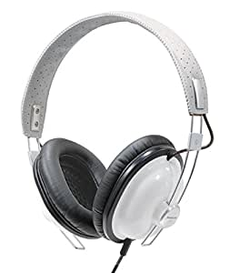Panasonic Retro Best in Class Over-the-Ear Stereo Monitor Headphones RP-HTX7-W1 (White) Dynamic Accurate Sound, Lightweight and Comfortable, iPhone, Android Compatible, Noise Isolating Headphones