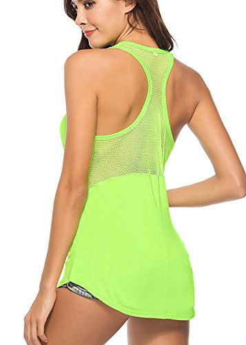 Yucharmyi Womens Yoga Tops Activewear Workout Clothes Sports Racerback Tank Tops with Back Mesh