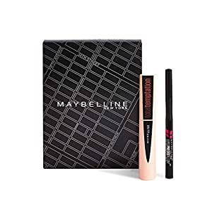 Maybelline New-York – Coffret Maquillage Yeux : Mascara Total Temptation Noir 8,6 ml + Liner Hyper Precise Allday 700…