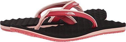 The North Face Womens Base Camp Mini Beach Lightweight Summer Flip Flops - Dark Pink/Black - (Base Camp Flip Flop Sandal)