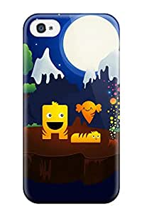 Hot Iphone 4/4s Case Cover - Slim Fit Tpu Protector Shock Absorbent Case (magical Night) 1592157K10153076