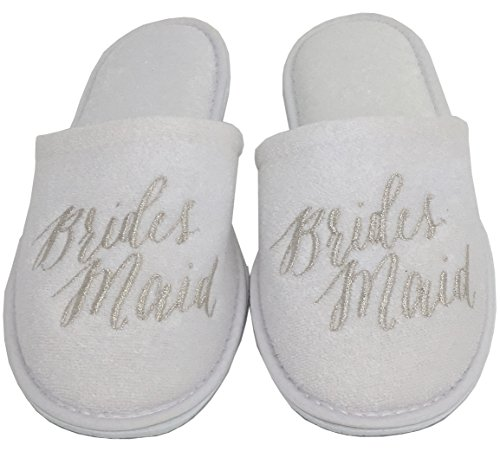 Personalized Slippers Wedding Slippers - (Medium (W6-8), Bridesmaid) by Personalized Slippers