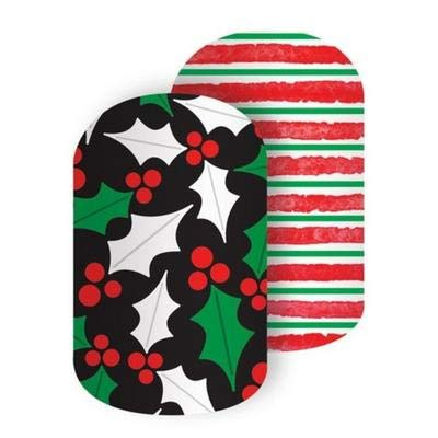 Jolly Holly - Jamberry Nail Wraps - HALF Sheet - Christmas Holiday Exclusive 2018 (Jamberry Christmas 2019)