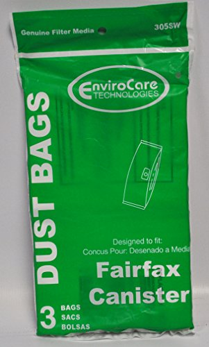 Fairfax Canister and Johnny Vac CondoLux Central Vacuum Replacement Bags 305SW