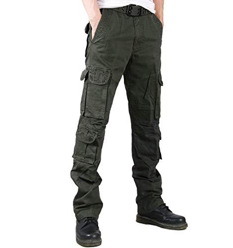 Multi Cargo Primavera Armygreen Combate Recto Algodón Battercake Otoño Al Bolsillo Pantalones Suelta De Aire Libre Ropa Cómodo Hombres Trabajo qa1wtI