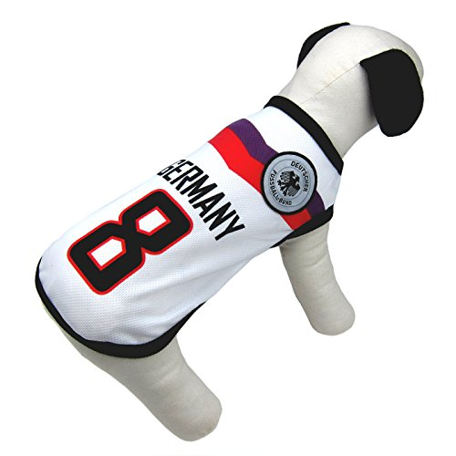 Alfie Pet by Petoga Couture - Ezra Soccer Jersey - Color: Germany, Size: Large (Halloween Germany)