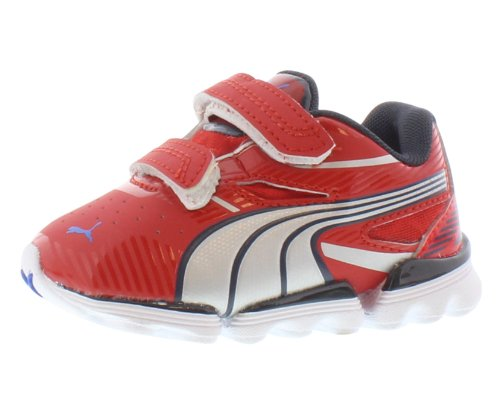 Image of PUMA Walleri Training Shoe (Toddler/Little Kid),High Risk Red/Puma Silver/New Navy,9 M US Toddler