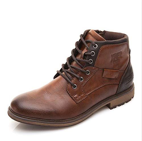 Vintage Mens Snowboard Boots - Autumn Winter Men Boots Big Size 40-48 Vintage Style Men Shoes Casual Fashion Warm Boots,Vintage Brown,14