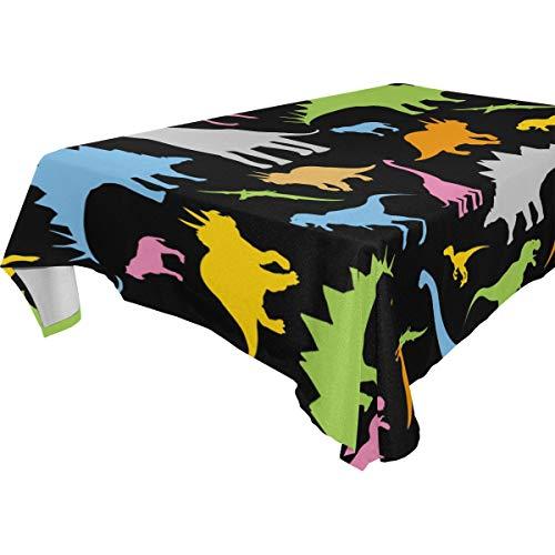 Amazon Com Littleluck Cute Dinosaur Pattern Tablecloth