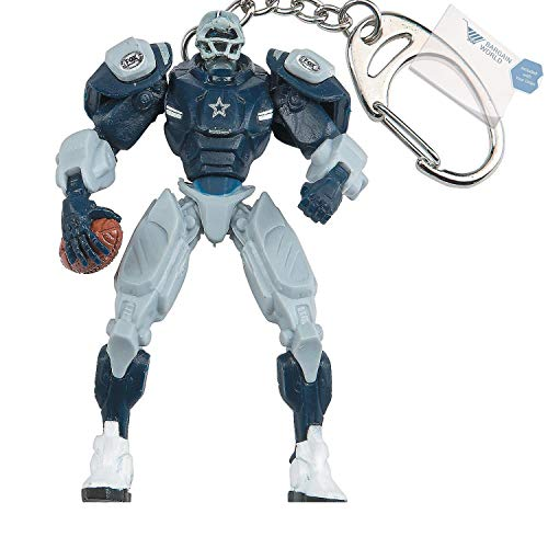 Bargain World Plastic Fox Sports Team Cleatus Robot v2.0 Extreme Key Chain-Dallas Cowboys (With Sticky Notes) (Team Cleatus Fox)