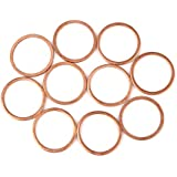 X AUTOHAUX 10pcs Copper Washer Flat Sealing Gasket Ring Spacer for Car 20 x 24 x 1.5mm