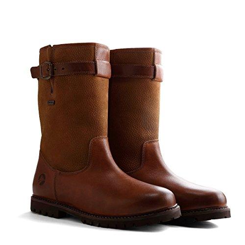 Travelin North Cape Outdoor Stiefel Leder Herren | Wasserdicht & Gefüttert | Bergstiefel Wanderstiefel Outdoorschuhe Winterstiefel Schneestiefel | Cognac 46 EU