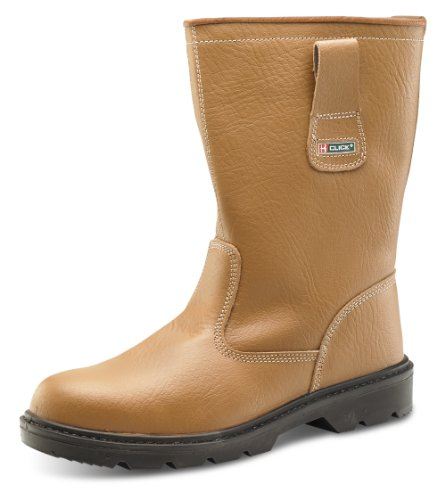 Click Workwear Fur Lined Leather Anti Static/Slip Safety Rigger Boot (Size 4) -