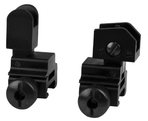 SNIPER® Front Rear Flip-up Sight Side bolt detachable, A2 iron sight, Windage adjustment (Folding Stock For M4)