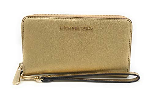 Michael Kors Women's Jet Set Travel Large Smartphone Wristlet (Gold) ()