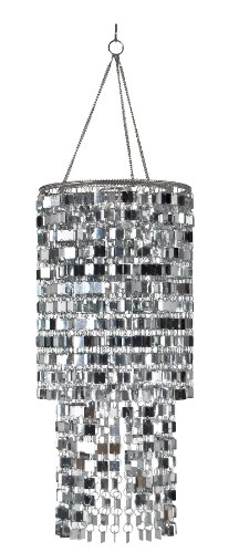 Wall Pops WPC96860 Ready-to-Hang Bling Chandelier, Icicles, 8.5 x 20 -