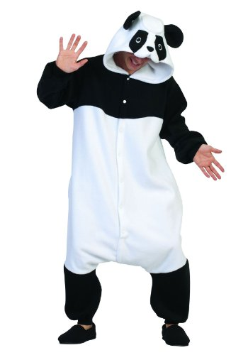 RG Costumes Parker Panda, Black/White, One Size (Panda Costume Adult)