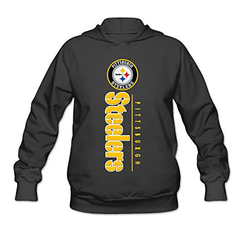 DVPHQ Women's Best Pittsburgh Logo Steelers Sweater Size M Black